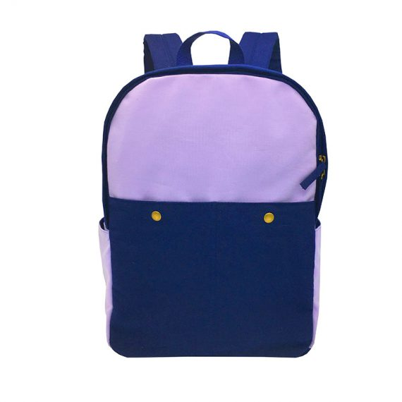 Canvas backpack in purple & blue
