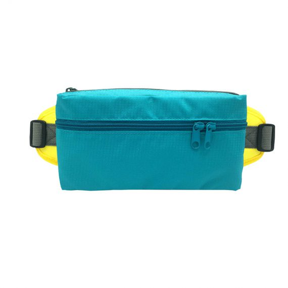 Rectangular shape waist bag in acqua