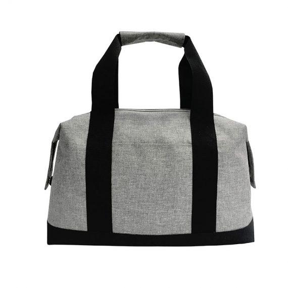 Weekender bag for men in grey