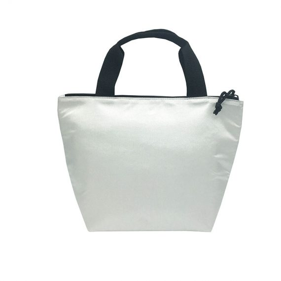 Tote bag style cooler bag in white