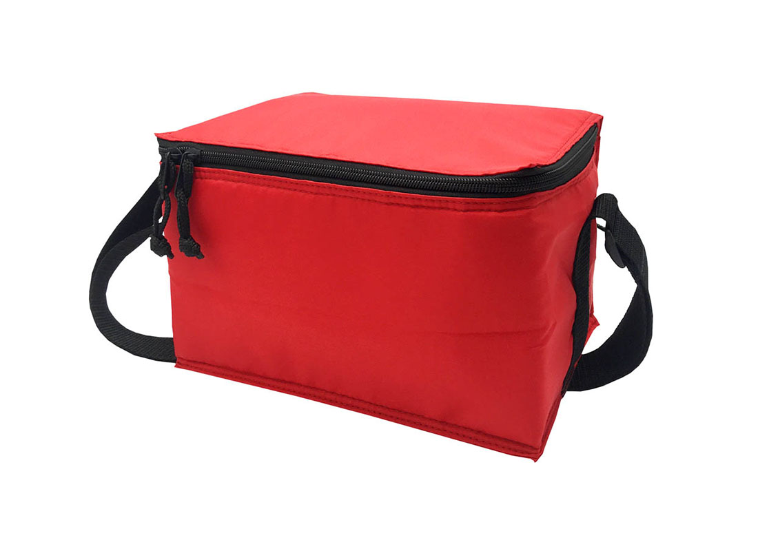 6 cans cooler bag in red R side