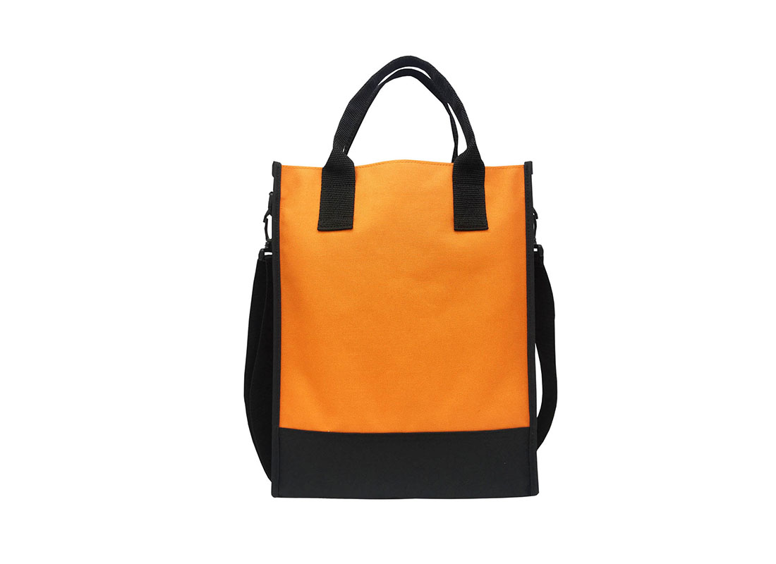 Document bag for A4 document in orange back