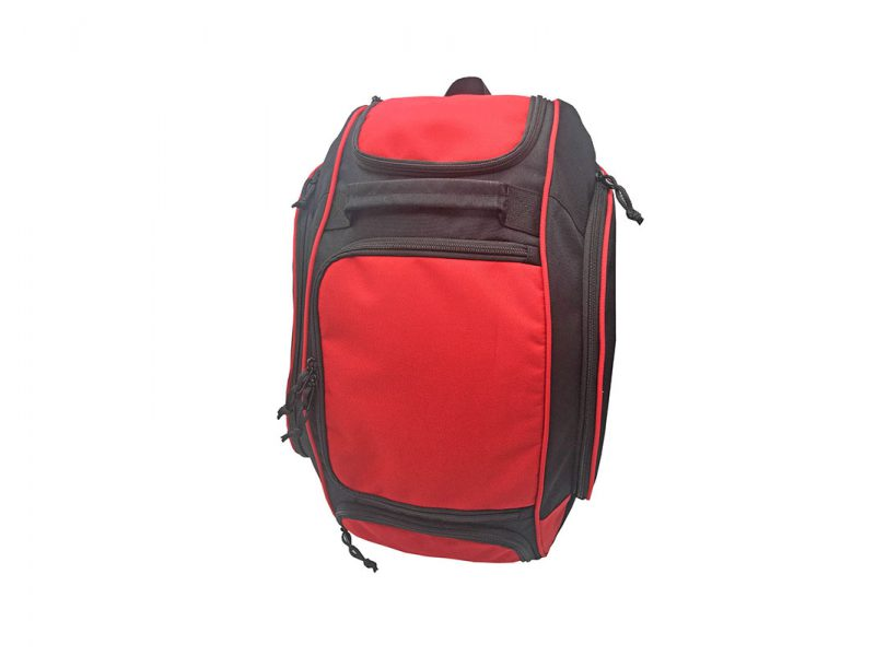 Outdoor backpack in black & red