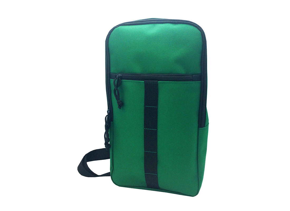 Sling bag for men in green R side