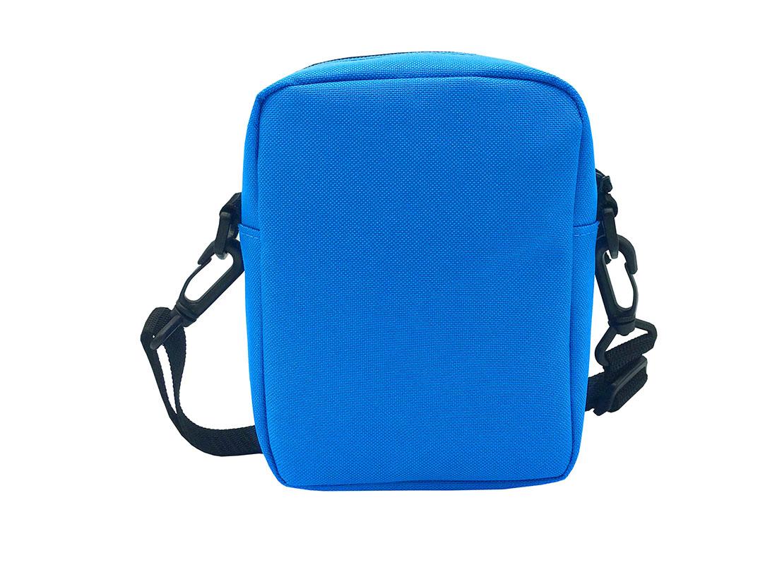 blue small shoulder bag back