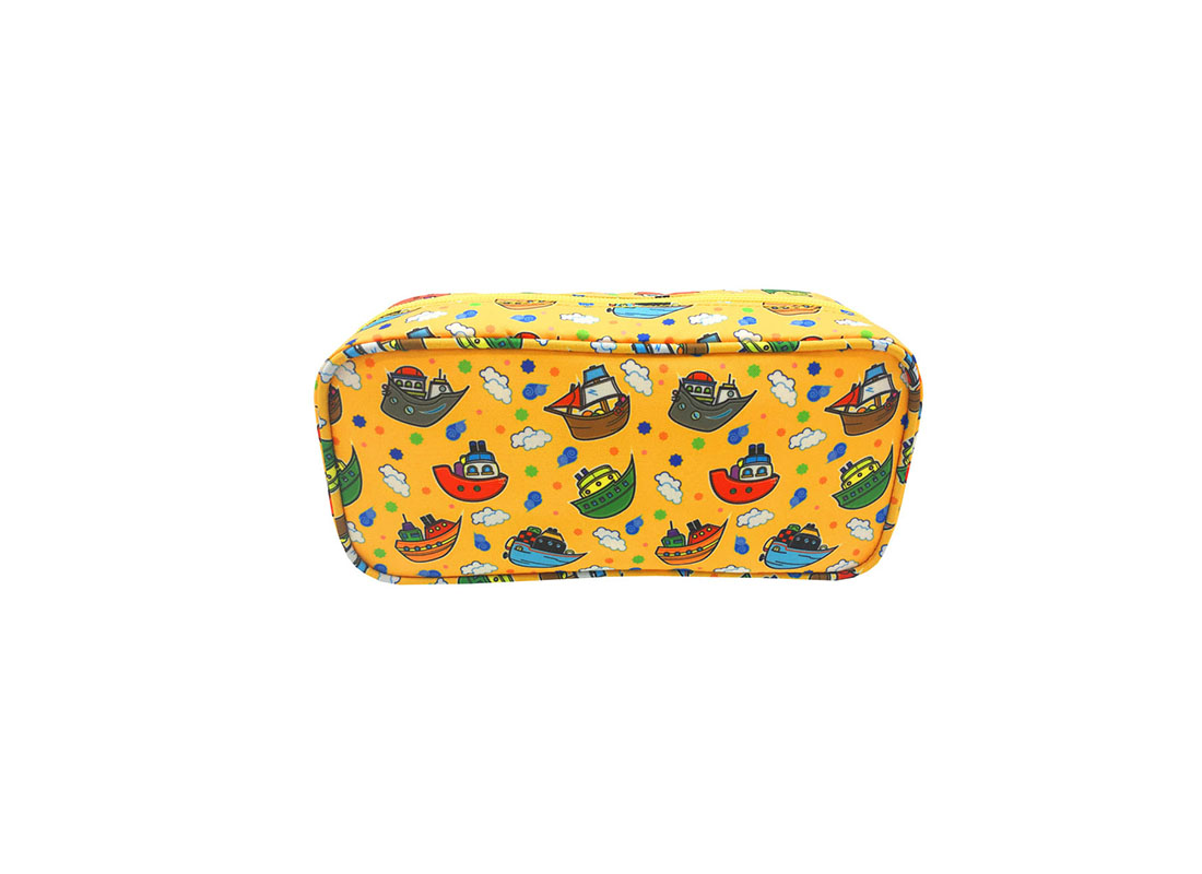 Rectangular shape pencil case with ship print
