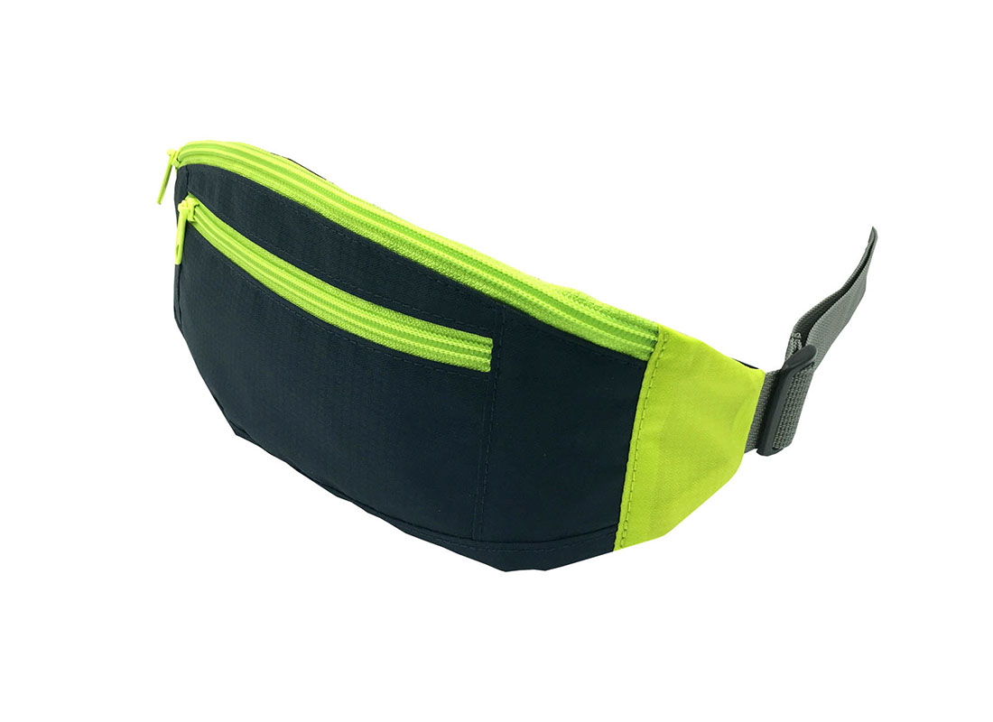 small sporty waist bag in neon green side1