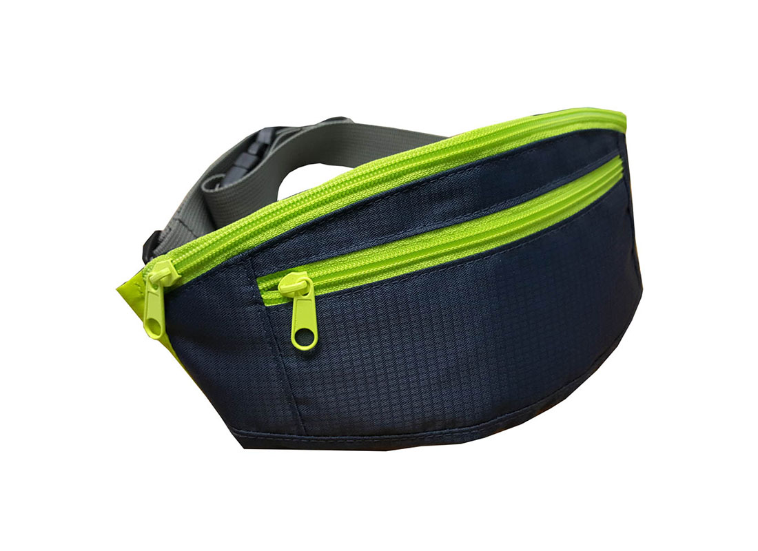 small waist bag in neon green L side