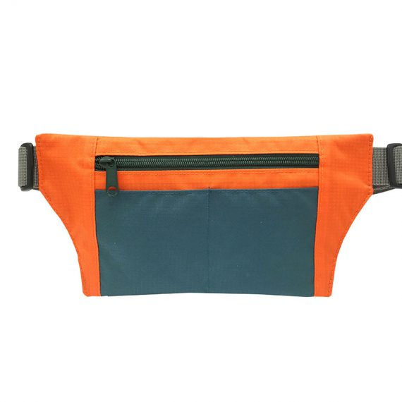 Sport waist bag with front zipper pocket