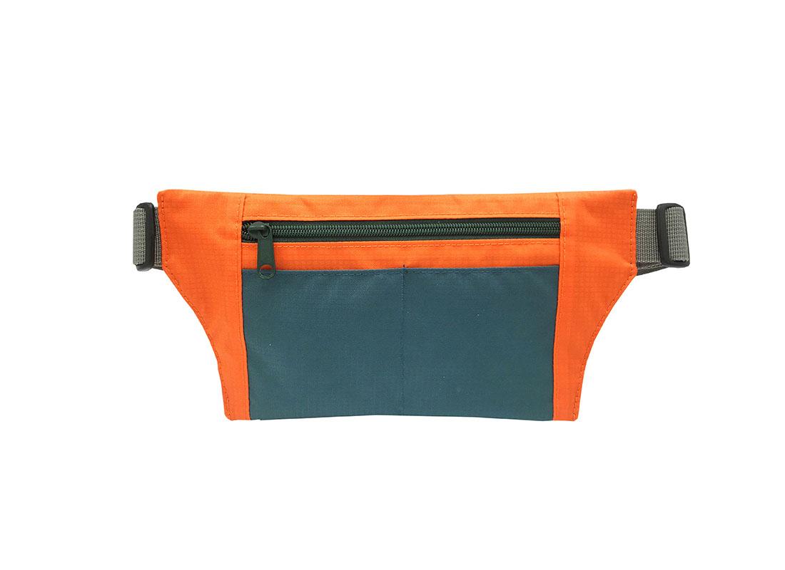 Sport waist bag with front zipper pocket