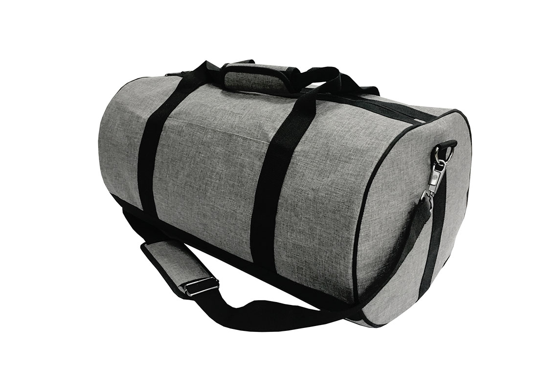 weekender duffel bag in grey R side