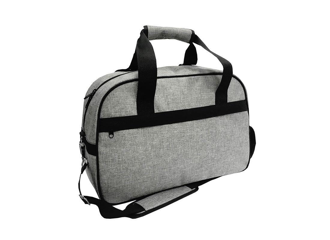 weekender bag for men in grey L side