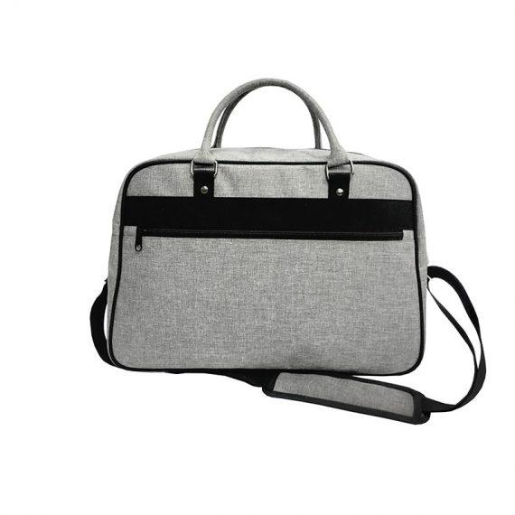 weekender bag in grey