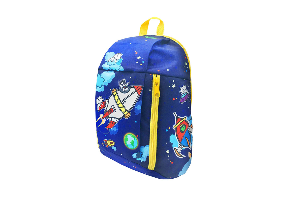 children backpack with spaceship printing R side