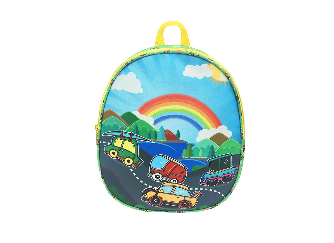Children backpack with car printing