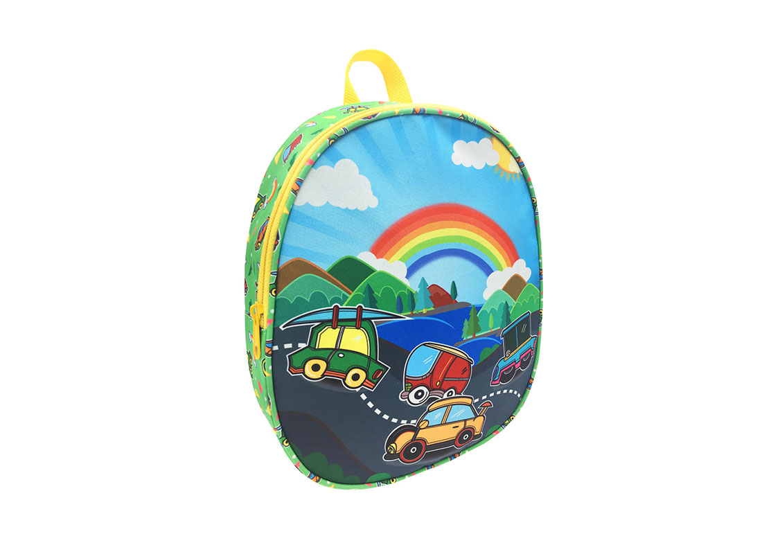 Children backpack with car printing L side