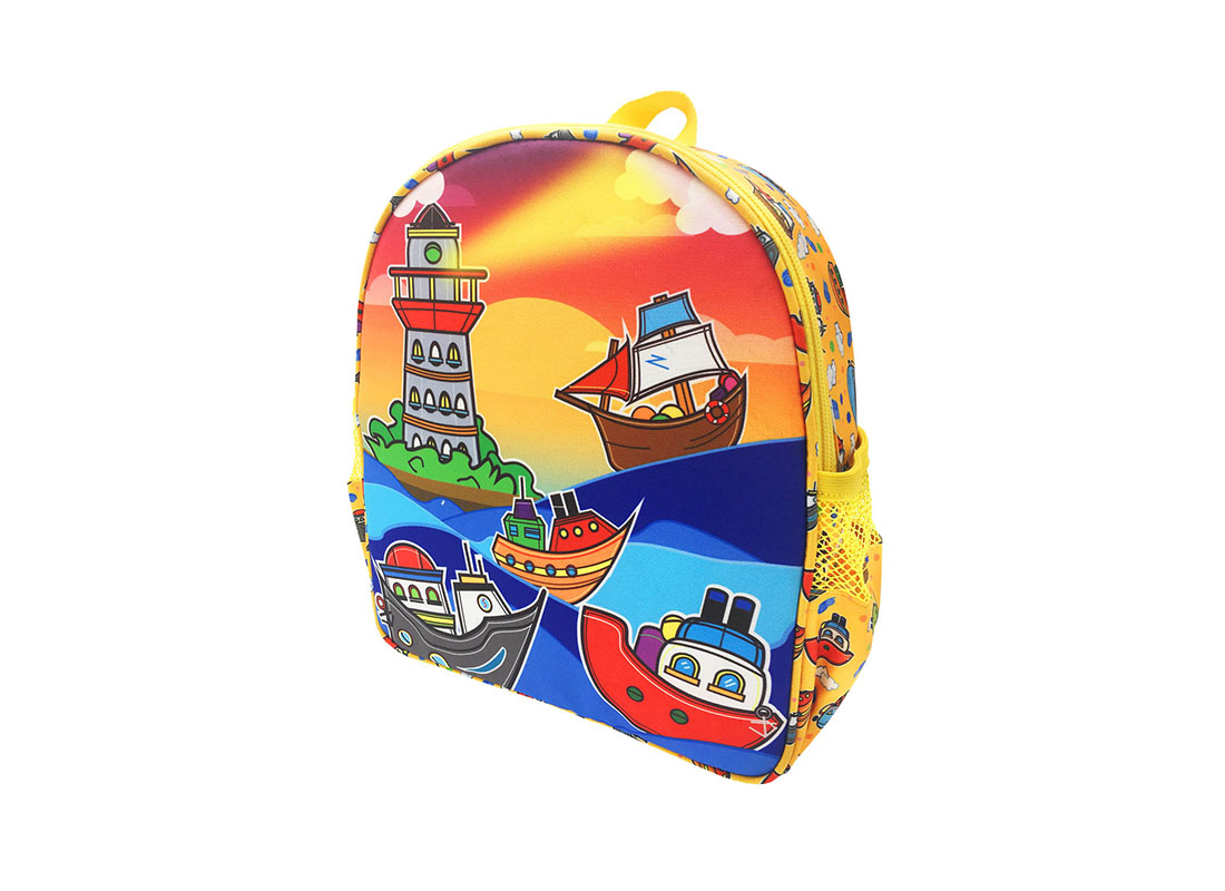 Children Backpack with ship printing R side