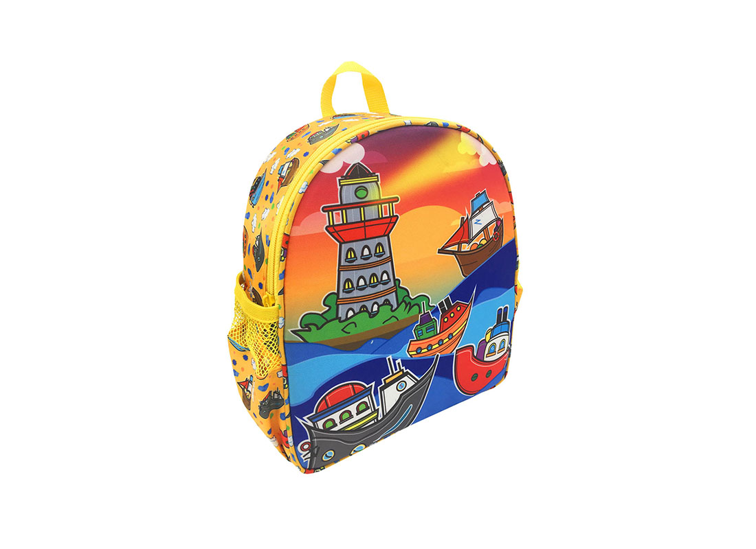 Children Backpack with ship printing L side