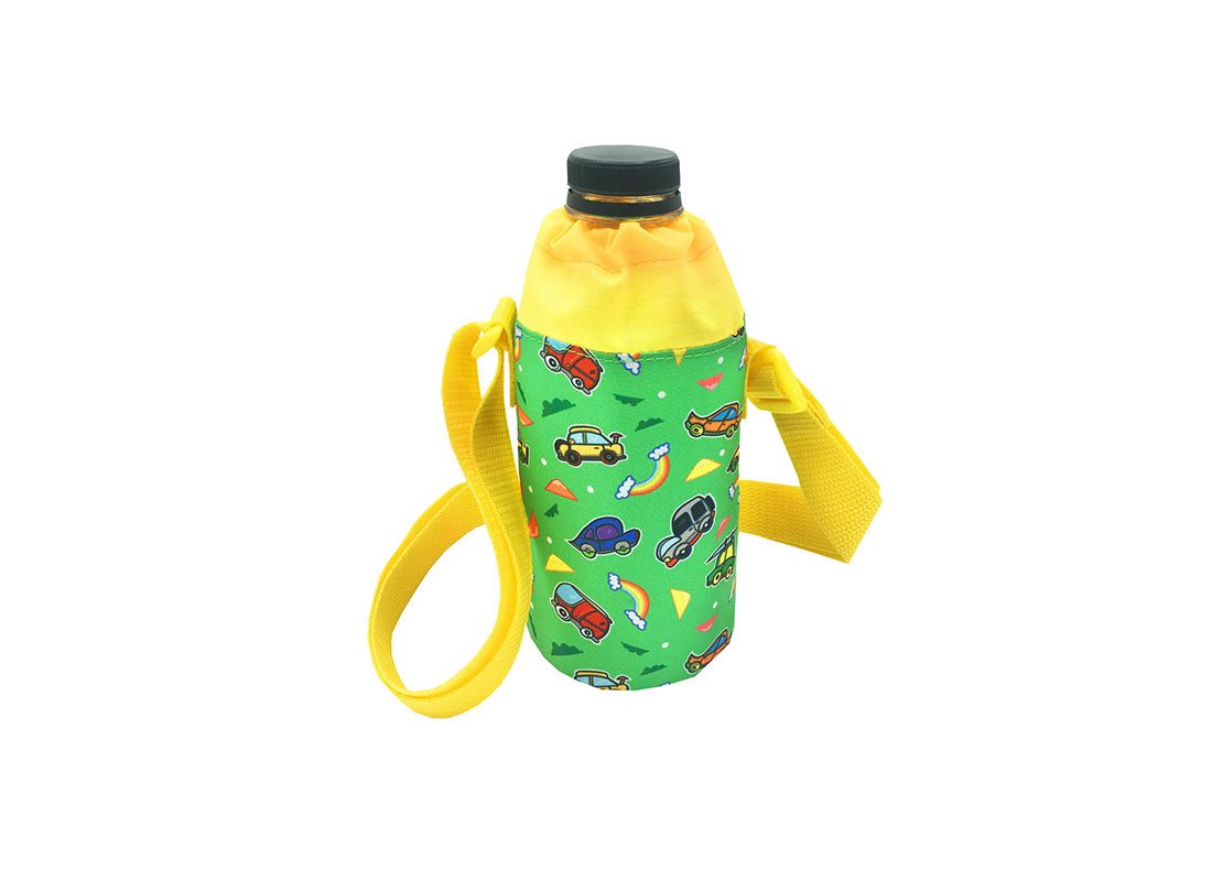 Children water bottle holder with car print back