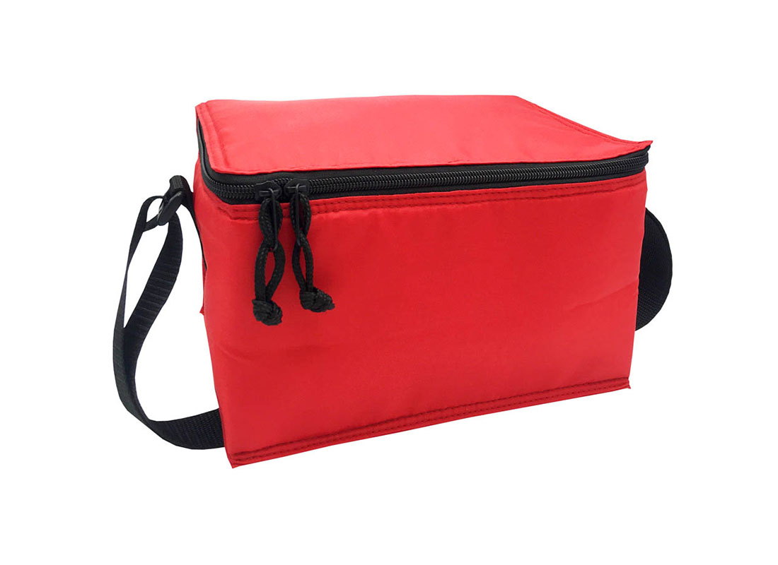6 cans cooler bag in red L side