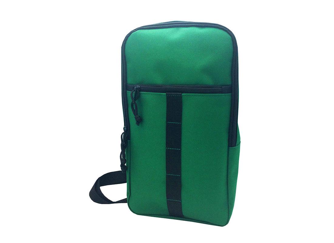 Sling bag for men in green R side