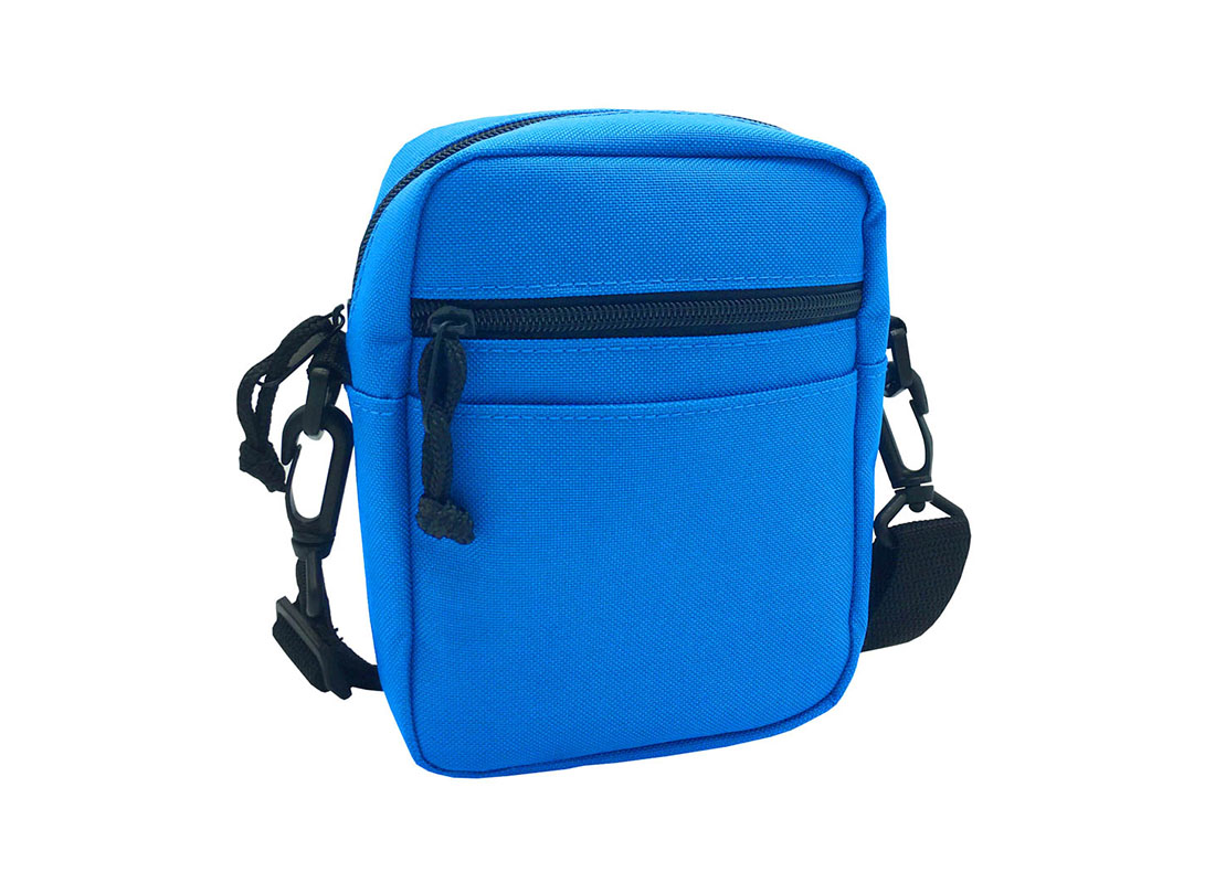 blue small shoulder bag L side