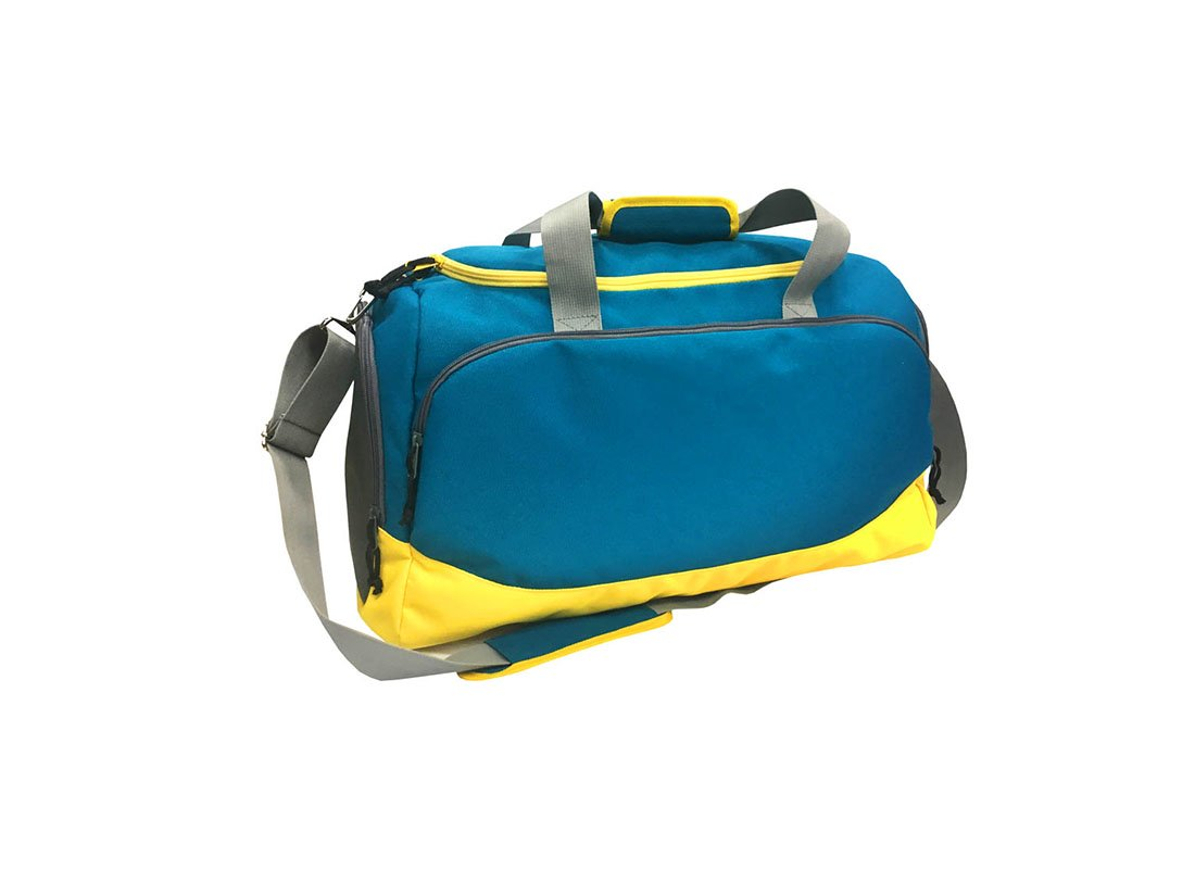 Sport Duffel bag in blue and yellow