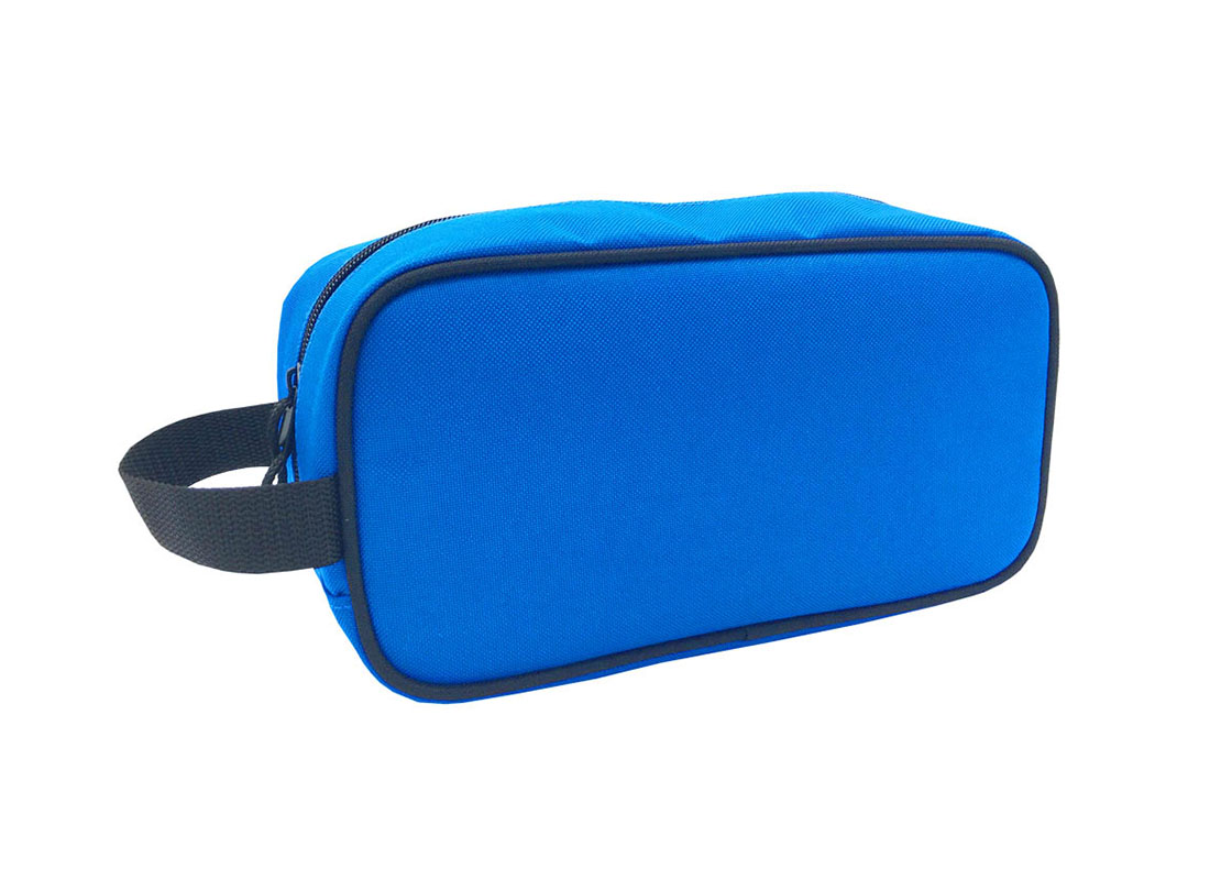 small toiletry bag in blue - L side