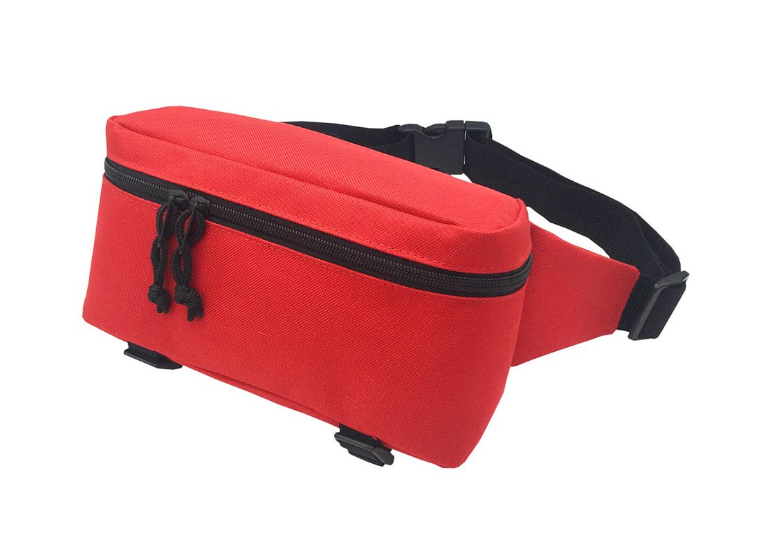 sporty waist bag in red L side