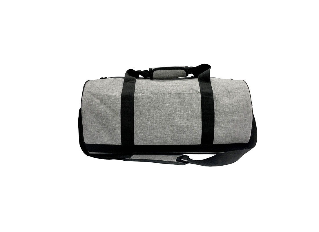 weekender duffel bag in grey
