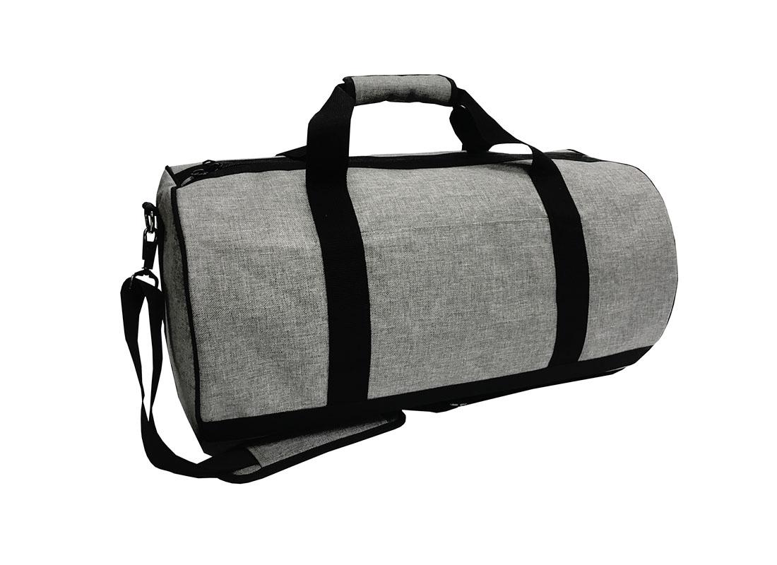 weekender duffel bag in grey L side