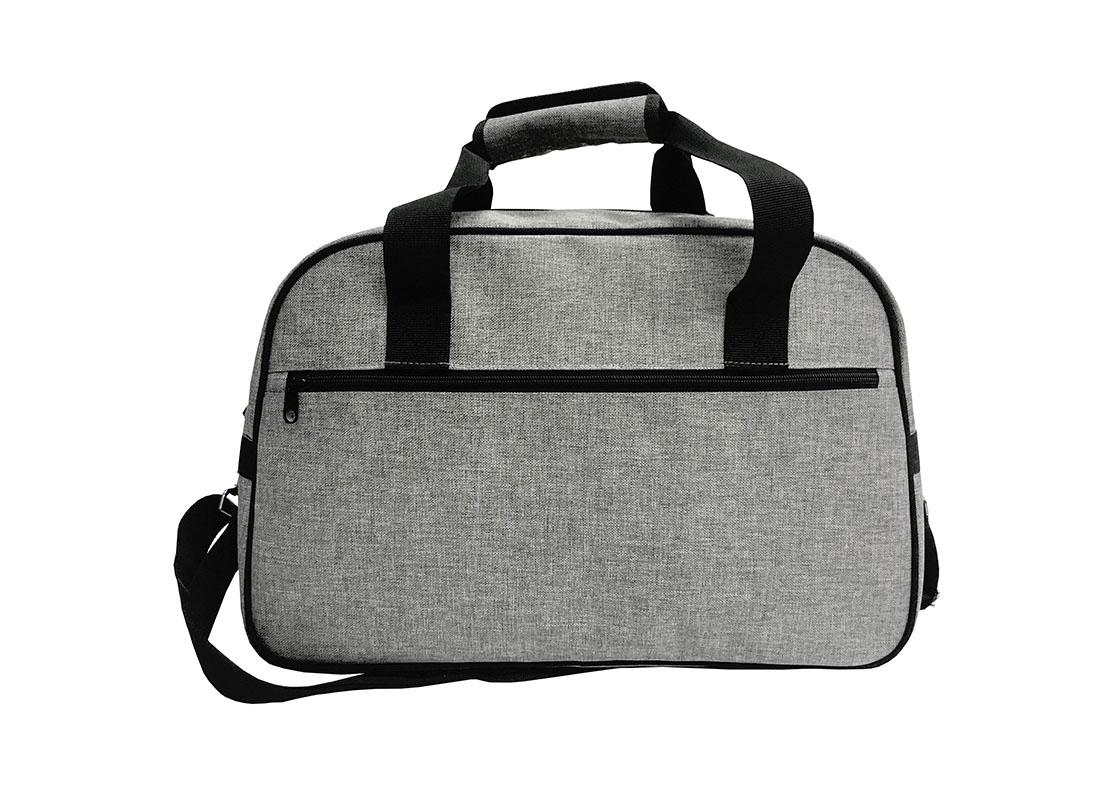 weekender bag for men in grey back