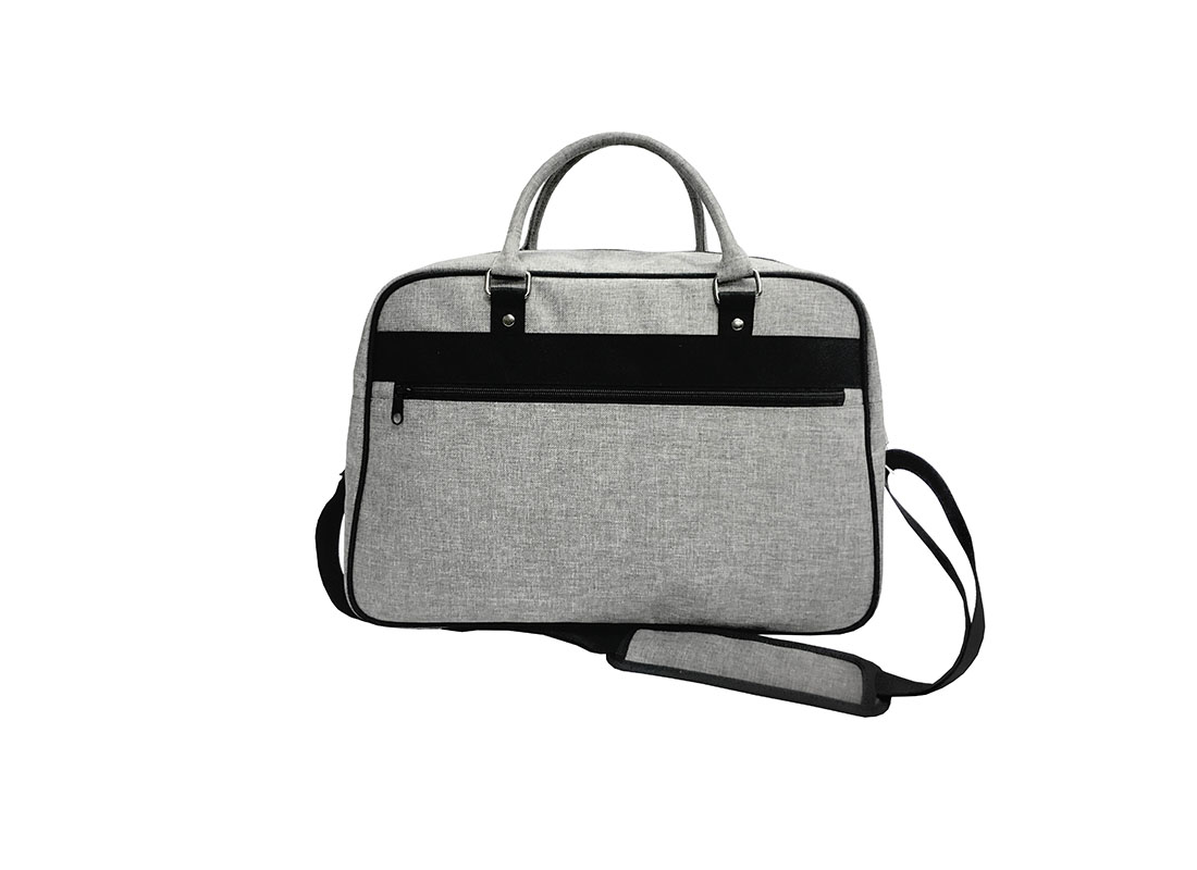 weekender bag in grey