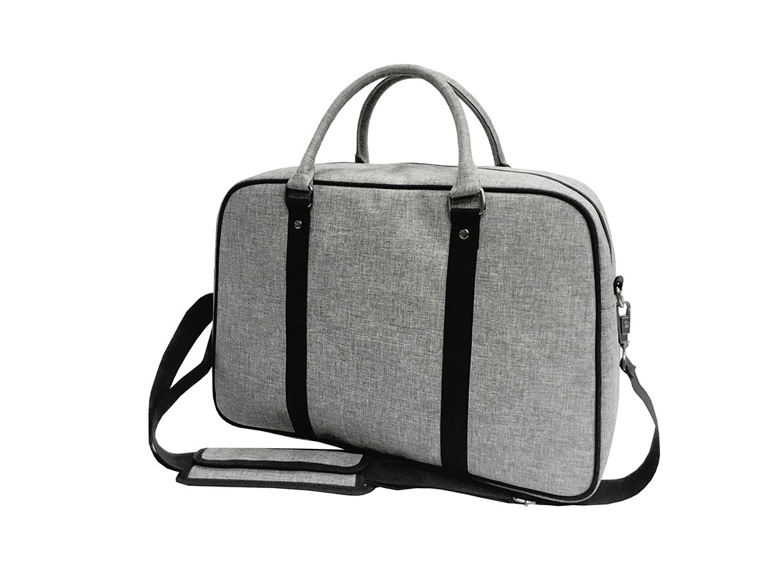 weekender bag in grey side