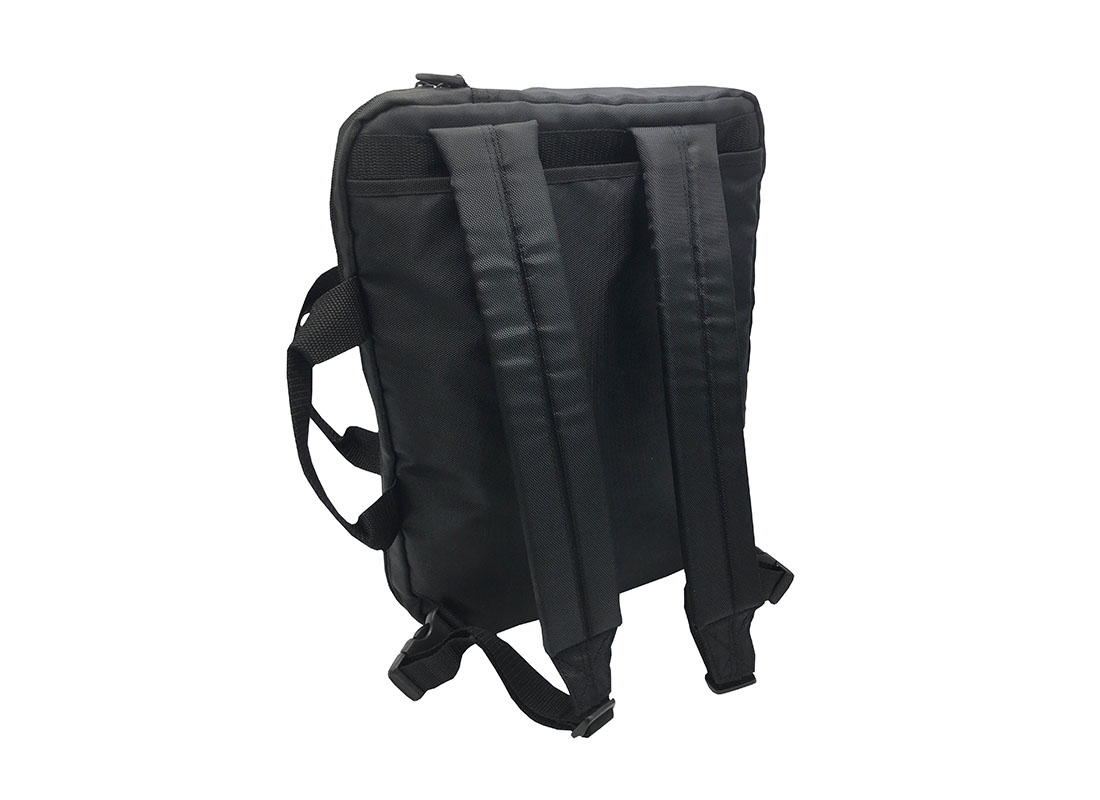 3 way laptop bag in black backpack