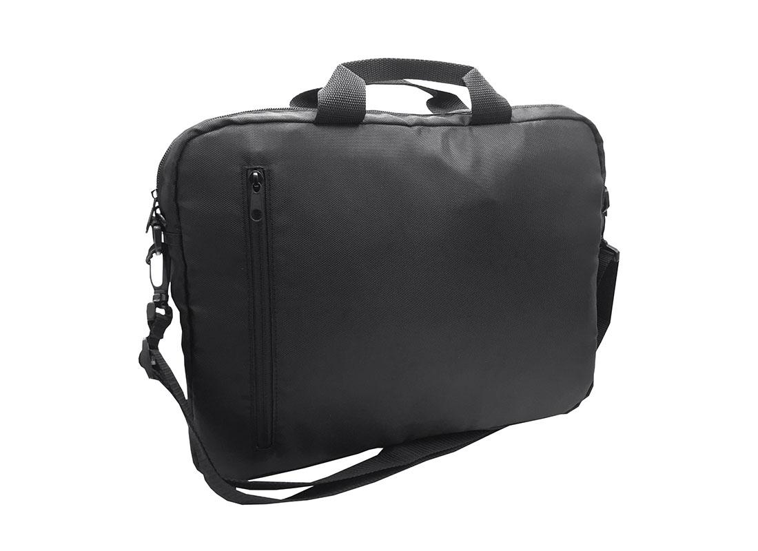 3 way laptop bag in black L side