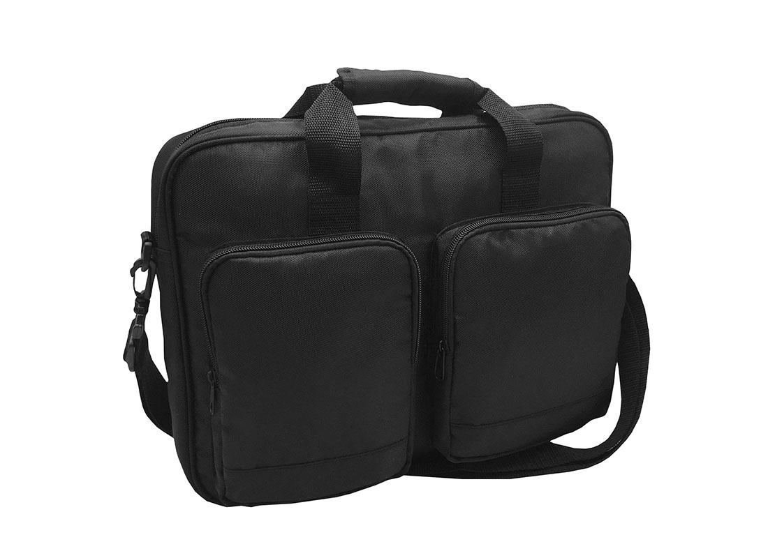 Laptop Briefcase in Black L side