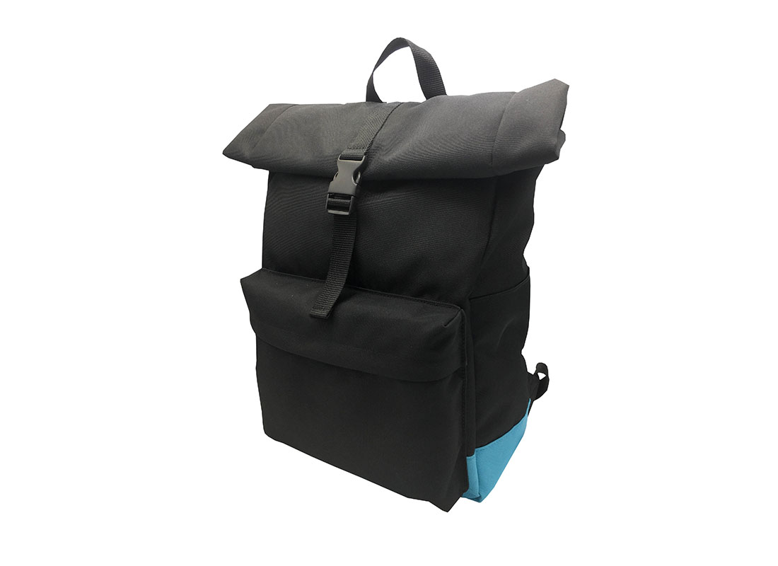 roll top laptop backpack R side