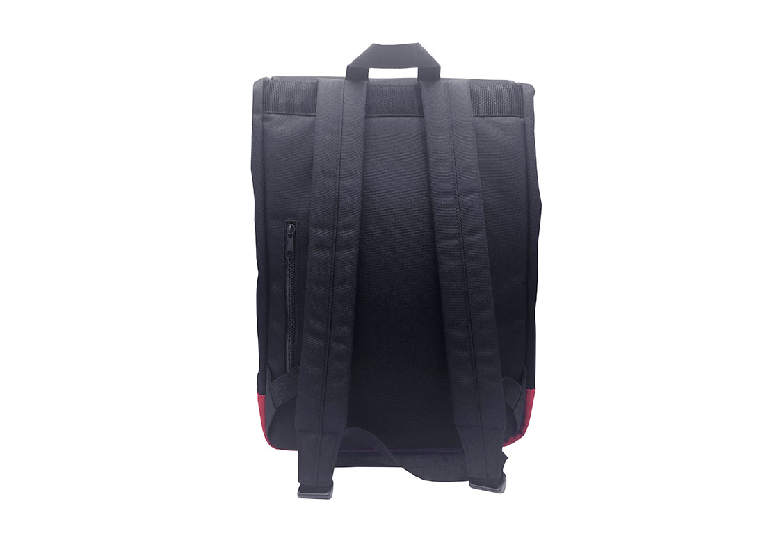roll top laptop flap backpack back