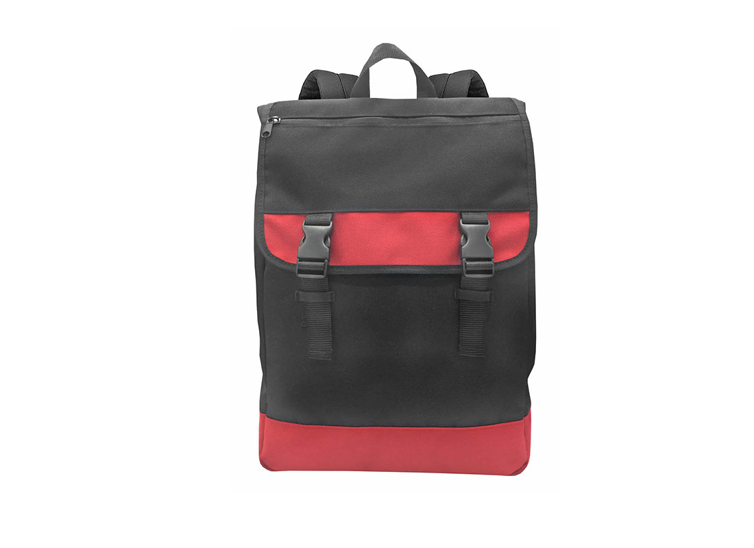 Roll Top Laptop Flap Backpack