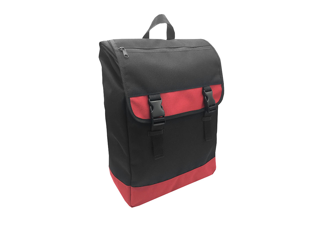 roll top laptop flap backpack L side