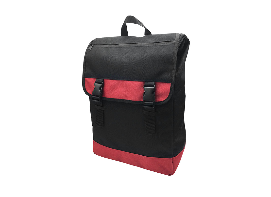 roll top laptop flap backpack R side