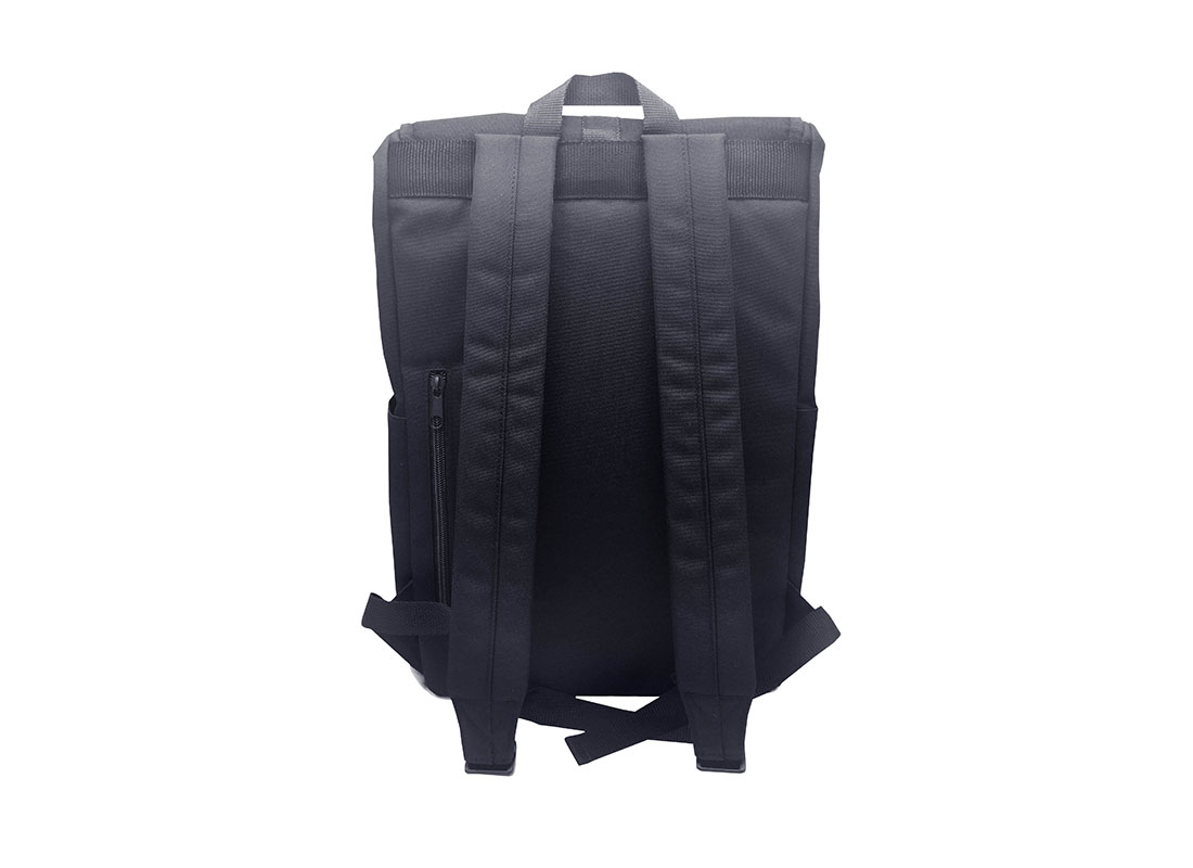 roll top laptop backpack with flap back