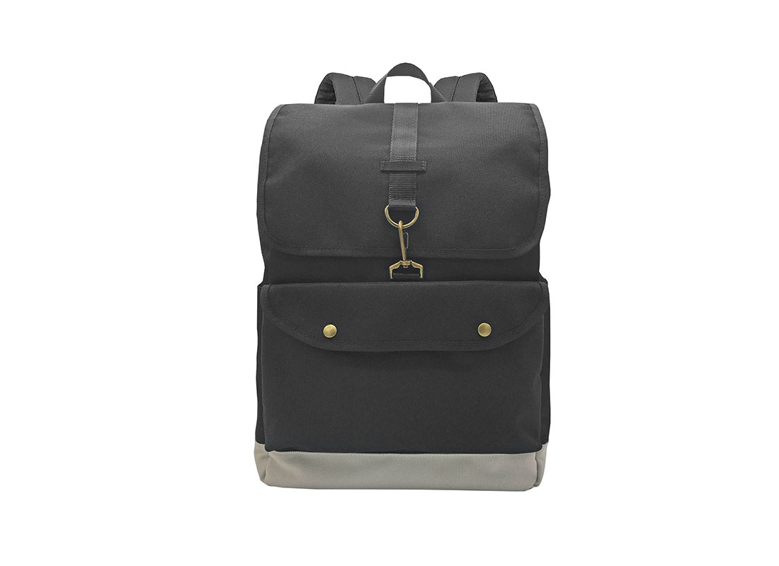 Roll top Laptop Backpack with flap
