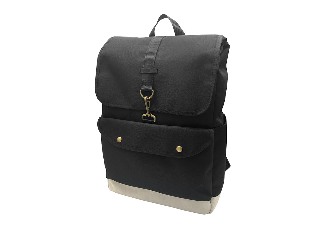 roll top laptop backpack with flap R side