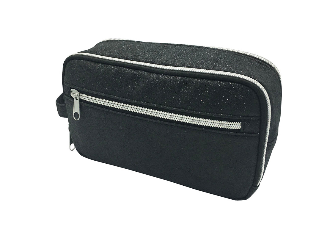 Black Shiny Pu Cosmetic Bag R side