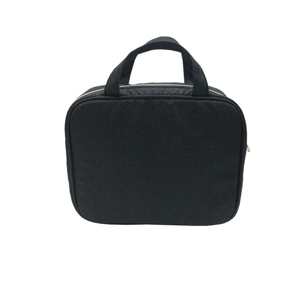 Makeup Bag Pack with 3pcs PVC pouch inside front
