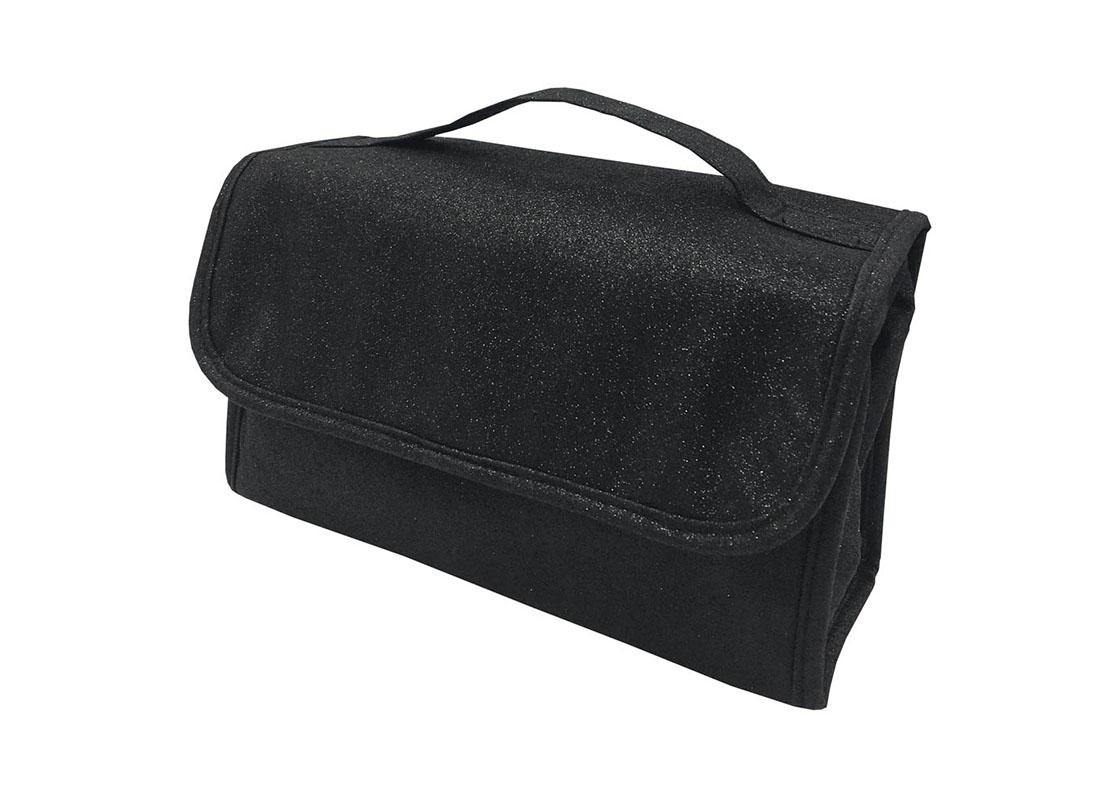 Rollup Makeup Bag in Black R side