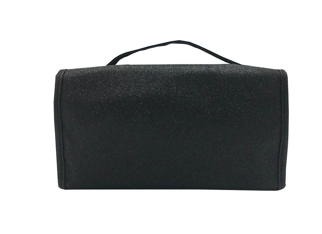 Rollup Makeup Bag in Black Back
