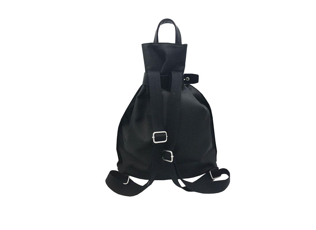 women black backpack back